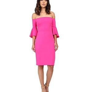 Laundry Shelli Segal Pink Montreal Crepe Dress